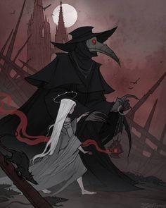 Pestilence by IrenHorrors on DeviantArt Fantasy Male, Dark Fantasy Art, Art Sketches, Art Drawings, Images Star Wars, Arte Obscura, Creepy Art, Horror Art, Horror Drawing