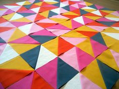 party napkin quilt by arajane, via Flickr