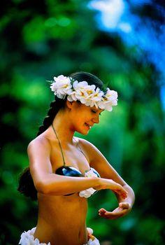 Hula Dancer, Waimea Falls Park, Waimea Bay, north shore of Oahu, Hawaii USA - we learned a few moves here! What fun!