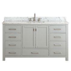 Avanity modero chilled grey 60 inch single vanity combo overstock