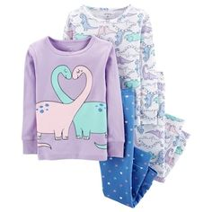 Your little dreamer will adore this Dino Pajama Set from carter's. This fun set comes with 2 different pair of pajamas, each with a dinosaur inspired theme. Made of cotton so your child will sleep comfortably. Baby Girl Pajamas, Carters Baby Girl, Baby Outfits, Baby Clothes Blanket, Stylish Baby Clothes, Babies Clothes, Baby Girl One Pieces, Baby Set, Baby Baby