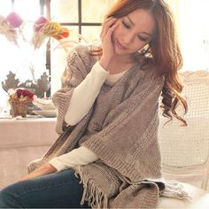Fringed Knit Cape Top from #YesStyle <3 Tokyo Fashion YesStyle.com