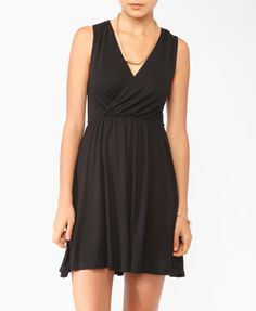 Essential Knit Surplice Dress | FOREVER21 - 2000043237