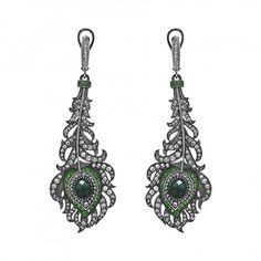 Axenoff Jewellery » Earrings «Peacock's Feather»