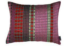 One Kings Lane - Dynamic Designs - Rubina 17x14 Pillow, Red