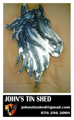 Horse head cut out Tin Shed, How To Remove Rust, Plasma Cutting, Horse Head, Stables, The Ordinary, Metals, Metal Working, Restoration