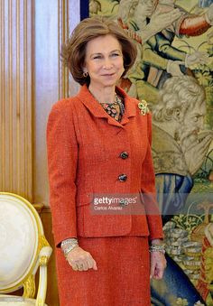 Queen Sofia of Spain attends several audiences at Zarzuela Palace on January 31, 2011 in Madrid, Spain.