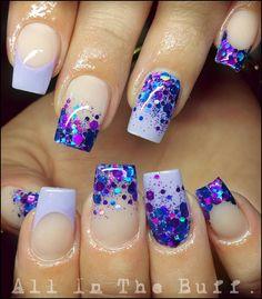 "300 Likes, 11 Comments - Jess Bockmann (@all_in_the_buff_naildesign) on Instagram: ""@glitter_heaven_australia ~ Indigo  Custom mix pigment ~ Purple     #J4URN #AITB #allinthebuff…"""