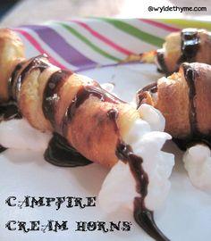 Campfire Cream Horns