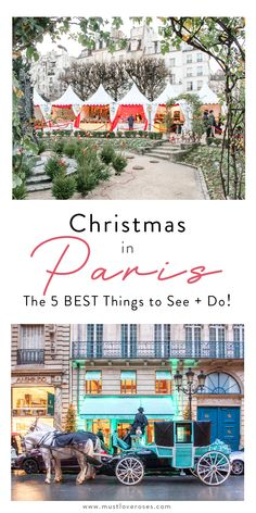 The 5 best things to do in Paris during Christmas, including all the pretty decorations, Christmas markets, seasonal foods and more! Christmas really is the best time to visit Paris! Paris Christmas Market, Christmas Vacation, Holiday Travel, Paris Travel Tips, Europe Travel Guide, France Travel, Best Places To Travel, Cool Places To Visit, Amazing Destinations