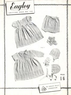 Vintage Baby Knitting Patterns Booklet by HeirloomKnitPatterns