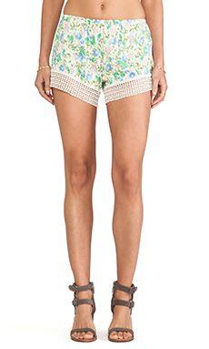 Jen's Pirate Booty Daisy Cheeky Shorts en Pastel Water Color
