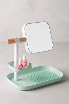 Tabletop Vanity Organizer with removeable hand mirror Bathroom Accessories, Decorative Accessories, Home Accessories, Module Design, Vanity Organization, Tabletop, Vintage Design, Interiores Design, Hygge