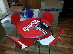 coca cola chair tricia kuntz hand painted furniture pinterest