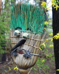 Broom man yard art at Winter Wheat in Sparta, Ontario, Canada