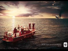 Publicité - Creative advertising campaign - WWF: You can't afford to be slow in an emergency