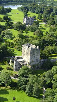 Blarney Castle ~ Medieval stronghold in Blarney near Cork and the River Martin, Ireland