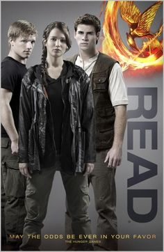 reading posters | bookshelves of doom: Hunger Games READ poster.
