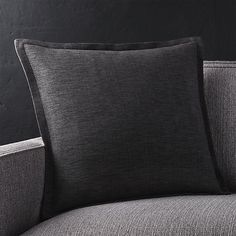 """Linden Ebony 18"""" Pillow with Feather-Down Insert 