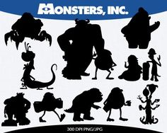 disney characters silhouette - Google Search