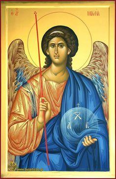 ΦΟΡΗΤΕΣ ΕΙΚΟΝΕΣ - ΑΓΓΕΛΟΙ Byzantine Icons, Byzantine Art, Paint Icon, Archangel Michael, Guardian Angels, Orthodox Icons, Angel Art, Christian Art, Kirchen