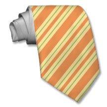 Striped Ties For Men Orange Keylime Stripes Tir