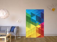 """Wie wäre es mit dem #Design """"Colored Cubes"""" z.B. für den #BESTA Schrank #IKEA #Designfolie"""