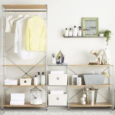 Keep your laundry room clean and tidy with these helpful organizing and storage ideas.
