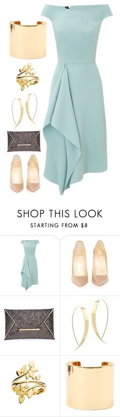 """559"" by jesuisleclown ❤ liked on Polyvore featuring Roland Mouret, Christian Louboutin, Lana and Elie Saab"