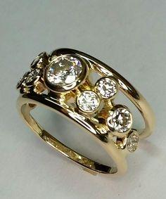 Ring Gold Jewelry, Jewelry Rings, Jewelery, Jewelry Accessories, Vintage Jewelry, Fine Jewelry, Jewelry Design, Unique Jewelry, Custom Jewelry