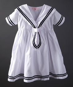 White Emma Dress - Infant, Toddler & Girls
