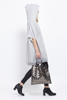 Bao Bao by Issey Miyake Prism Tote (Gun Metal) Japan Bag, Unique Bags, Shopper Tote, Issey Miyake, Bao, Style Me, Fashion Accessories, Normcore, Street Style
