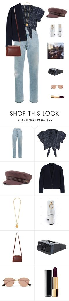 """""""Covent Garden."""" by greciapaola ❤ liked on Polyvore featuring RE/DONE, Nobody's Child, Loewe, Chanel, Want Les Essentiels de la Vie, Polaroid and Ray-Ban"""
