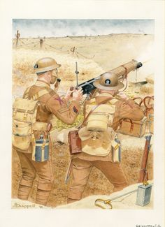 British; Vickers machine gun detachment, 206th M.G. Company, 58th (21st London) Division, T.F., 1918 by Mike Chappell