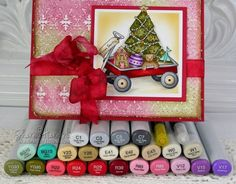 Copic Christmas Card Project by Sharon Harnist