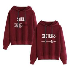 Best Friends Hoodies for 2 Girls BFF Jumper Matching Sweaters for Bestfriends -- You can get more details by clicking on the image. (This is an affiliate link) Best Friend Matching Shirts, Best Friend T Shirts, Matching Hoodies, Bff Shirts, Best Friend Outfits, Matching Sweaters, Best Friend Clothes, Best Friend Sweatshirts, Friends Sweatshirt