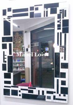 Mirror Mosaic, Mirror Art, Diy Mirror, Mosaic Art, Mosaic Madness, Tile Patterns, Stained Glass, Wall, Modern