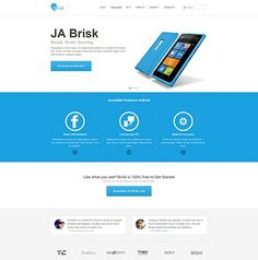 JA Brisk - Joomla 3.0 & 2.5 responsive template