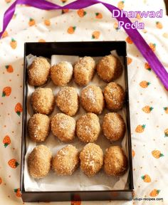 Home made Dharwad peda - A perfect sweet for any celebration prepared from scratch using only milk and sugar.