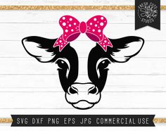 Cow Png, Cow Face, Cow Shirt, Sign Stencils, Cute Cows, Illustrations, Printable Art, Printables, Svg Cuts