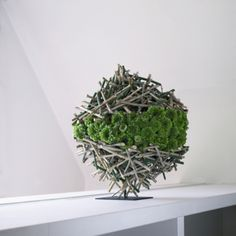 Sphericity of branches with green mums ~ Ivan Poelman