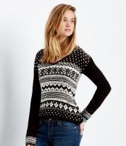 Fair Isle V-Neck Sweater - Aéropostale®