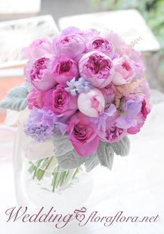 Wedding ブーケ クラッチ(ナチュラルステム) : FLORAFLORA*precious flowers*ウェディングブーケ会場装花&フラワースクール*
