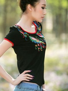 Nextwholesale.com…..new arrival…the most popular #clothing in #China,   #shirt,#dress,#pant,#tops  #Wholesale embroidery fashionable t shirts for women
