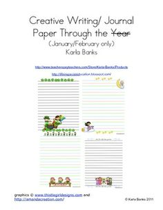 Weekly Freebie: FREE Writing Resource Free from Karla Banks on TpT Creative writing Paper January/February Writing Topics, Writing Resources, Writing Activities, Writing Prompts, Teacher Resources, Writing Papers, Educational Activities, Writing Ideas, Tools For Teaching