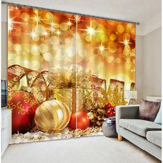 christmas curtains bedding living room drapes festival cortians thick sunshade window curtains custommade size