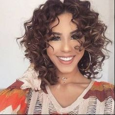 layered curly hair medium haircut for curly hair Curly Hair Styles, Curly Hair With Bangs, Haircuts For Curly Hair, Curly Hair Cuts, Medium Hair Cuts, Long Curly Hair, Wavy Hair, Medium Hair Styles, Easy Hairstyles