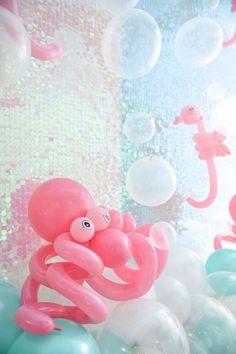Sea-life Balloon Creations from a Mermaid Oasis Themed Birthday Party via Kara's Party Ideas | http://KarasPartyIdeas.com (49)