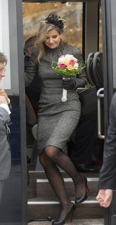 ♥•✿•QueenMaxima•✿•♥ - King Willem-Alexander and Queen Maxima of the Netherlands Visit Former Mining Region - Zimbio