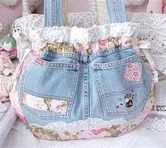 jean bag with lace